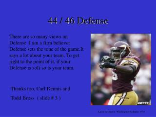 There are so many views on Defense. I am a firm believer Defense sets the tone of the game.It says a lot about your team