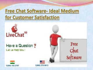 Free Chat Software- Ideal Medium for Customer Satisfaction