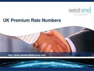UK Premium Rate Numbers