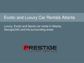 Collections for Exotic Cars to Rent in Atlanta