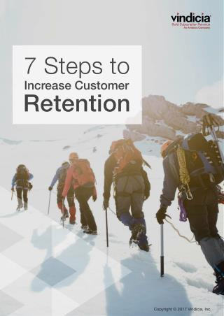7 Steps to Increase Customer Retention | Vindicia Select