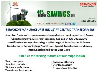 Transformer Manufacturers in Delhi