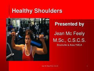 Healthy Shoulders