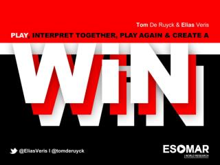ESOMAR 3D - 'Create a Win-Win-Win'