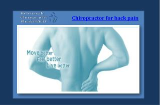 Chiropractor for back pain in QLD