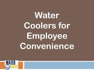 Water Coolers for Employee Convenience