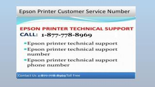 Instant dial (187 7778 8969) Epson Printer tech support Phone Number