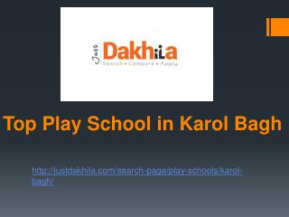 Best Play School in Karol Bagh