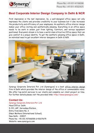 Interior Designers in Delhi,Office Designs In India