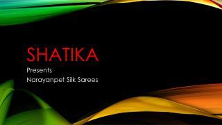 Latest Handloom Narayanpet Silk Sarees