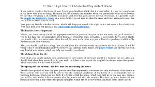 10 Useful Tips How To Choose And Buy Perfect House