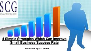 4 Simple Strategies Which Can Improve Small Business Success Rate