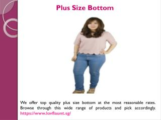 Plus Size Clothes Singapore