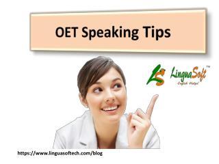 OET Speaking Tips