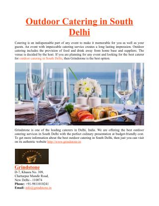 Outdoor Catering in South Delhi
