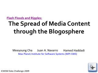 The Spread of Media Content through the Blogosphere