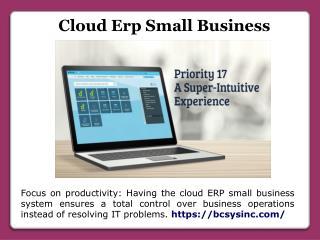 Cloud Erp Small Business