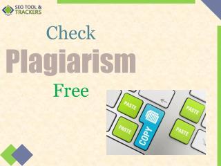 Free Plagiarism Checker - SEO Tool Tracker