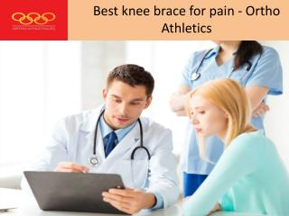 Best knee brace for pain - Ortho Athletics