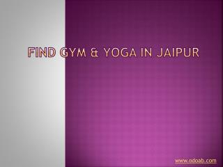 Find gym and yoga in jaipur
