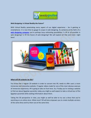 Web Designing: Is Virtual Reality the Future