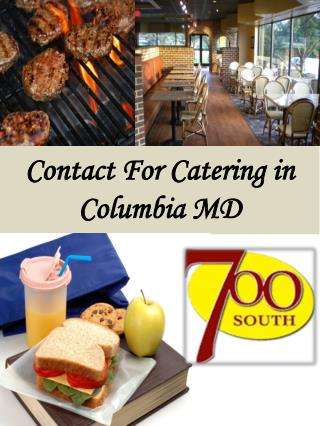 Contact For Catering in Columbia MD
