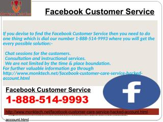 Should I avail Facebook customer service? Dial Now 1-888-514-9993
