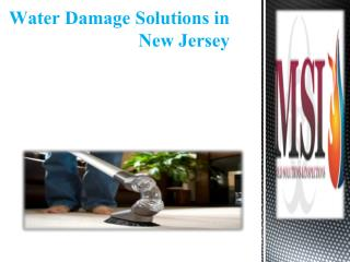 Water Damage Solutions in New Jersey