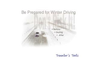 Winter Driving - Ready Army
