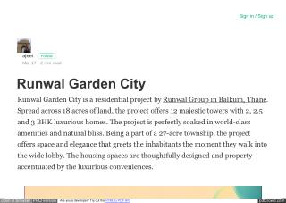 runwal garden city balkum