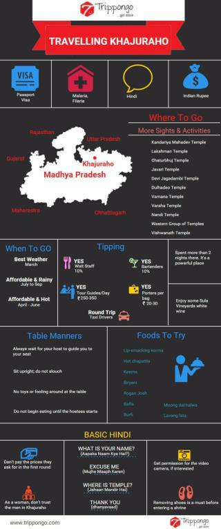Khajuraho Travelling Infographic - Trippongo