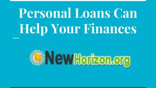 Personal Loans Can Help Your Finances