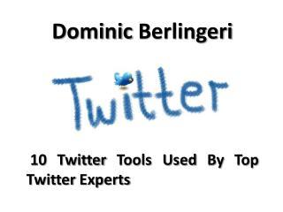 Dominic Berlingeri: 10 Twitter Tools For  Social Media Experts