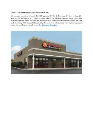 Lenoir City gets new Advance Financial Store