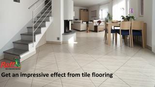 Get an impressive effect from tile flooring