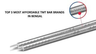 Top 3 Most Affordable TMT Bar Brands in Bengal