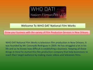 Video Production Company New Orleans