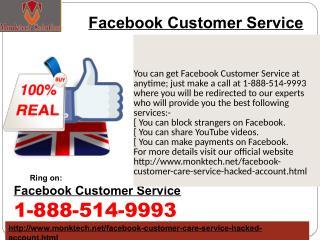 Where should I locate Facebook Customer Service?1-888-514-9993