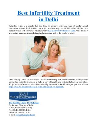 Best Infertility Treatment in Delhi