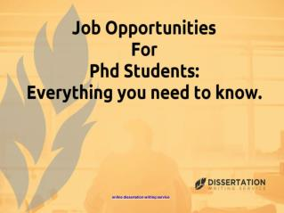 Job Opportunities for PhD Students: Everything You Need to Know