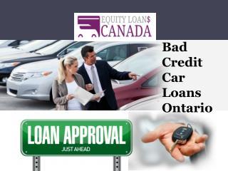Bad Credit Car Loans Ontario