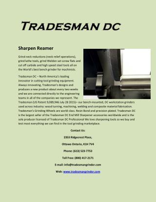 Sharpen Reamer