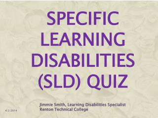 Specific Learning Disabilities SLD Quiz
