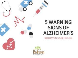 5 Warning Signs of Alzheimer's