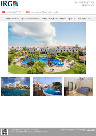SAN SEBASTIAN - Residential condos for sale by IRG Cayman