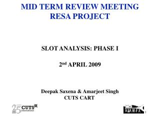 MID TERM REVIEW MEETING RESA PROJECT