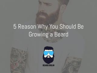 5 Reason To Grow a Beard