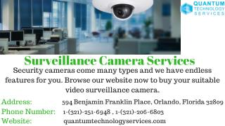 Surveillance Camera Services