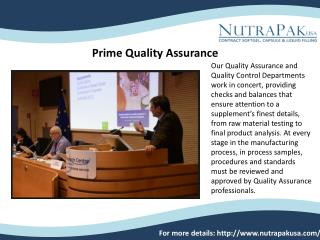 Nutraceutical Private Labeling