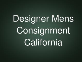 Designer Men's Consignment